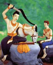 พระพุทธรูปปางตัดพระเมาลี