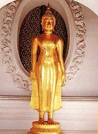 พระพุทธพระพุทธรูปปางรับหญ้าคา
