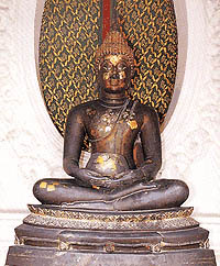 พระพุทธรูปปางรับสัตตุก้อนสัตตุผง