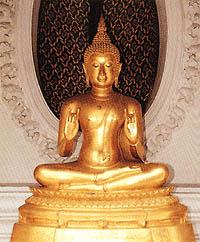 พระพุทธรูปปางประทานโอวาทหรือปางแสดงโอวาทปาติโมกข์