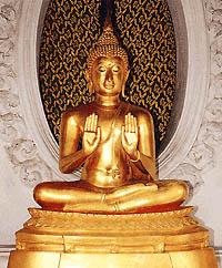 พระพุทธรูปปางประทานอภัย ( นั่ง )